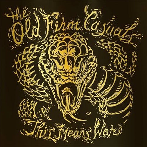 "Old Firm Casuals ""This Means War (Gold Snake Edition)"" LP"