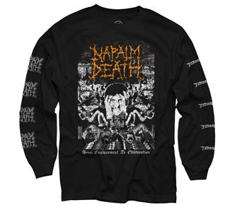 "Napalm Death ""From Enslavement To Obliteration"" Long Sleeve Shirt"