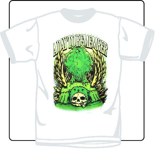 A Day To Remember Bear Skull White T Shirt