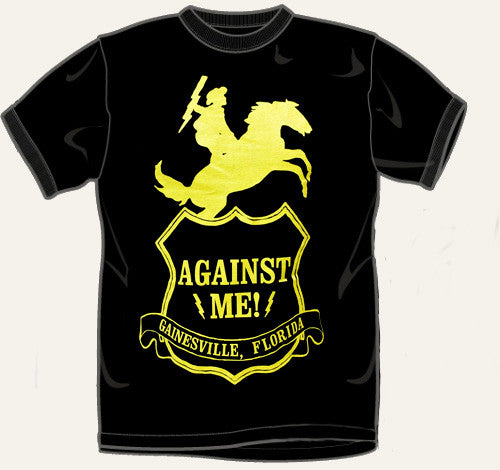"Against Me! ""Shield"" Black T Shirt"