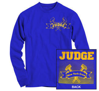 "Judge ""New York Crew Royal"" Long Sleeve T Shirt"