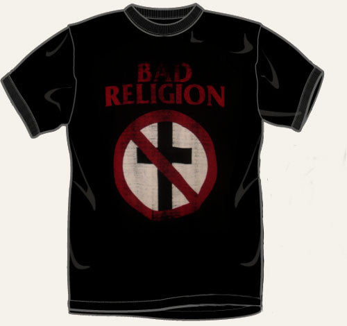 Bad Religion Distressed Print T Shirt