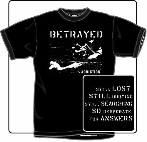 Betrayed Addiction T Shirt Large