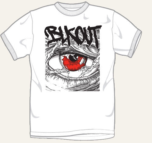 "Blkout ""Eye"" White T Shirt"