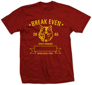 "Break Even ""Party Wolves"" T Shirt"