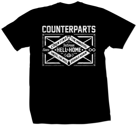 "Counterparts ""Miserable"" T Shirt"