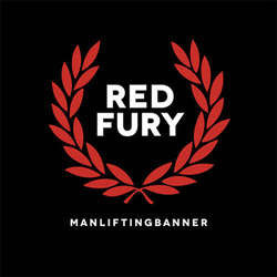 "Man Lifting Banner ""Red Fury"" LP"