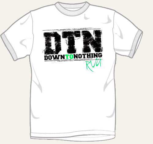 "Down To Nothing ""RVA"" White T Shirt"