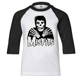 "Misfits ""Crossed Hands"" Baseball Jersey"
