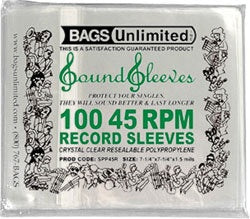 Bags Unlimited Protective Outer Record Sleeves 100x 7""
