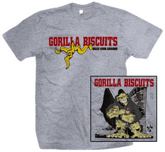 "Gorilla Biscuits ""Hold Your Ground"" T Shirt"