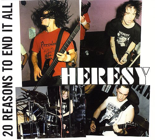 "Heresy ""20 Reasons To End It All"" LP"