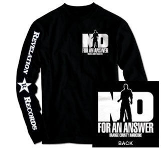 "No For An Answer ""Orange County Hardcore"" Long Sleeve"