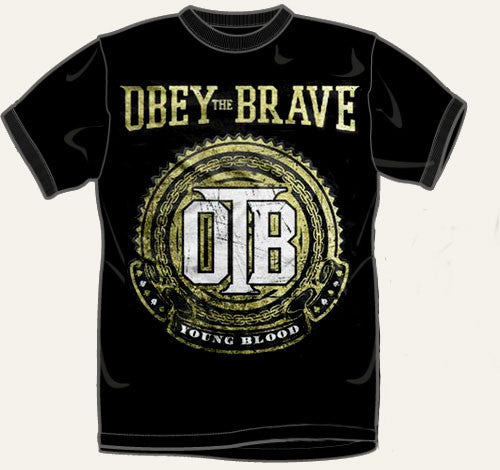 "Obey The Brave ""Crest"" T Shirt"