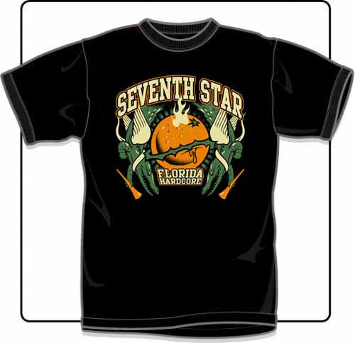 Seventh Star Orange T Shirt Large