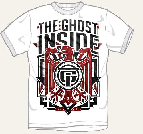 "The Ghost Inside ""Crest"" White T Shirt"
