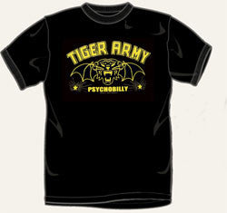 Tiger Army Winged Cat T Shirt