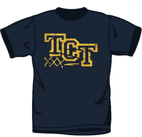 "Trust Comes Tough ""Varsity"" Navy T Shirt"