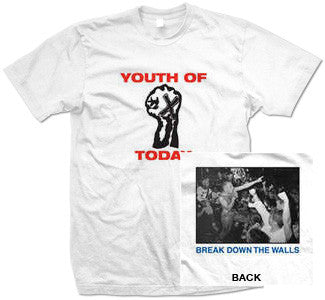 "Youth Of Today ""Break Down The Walls"" T Shirt"