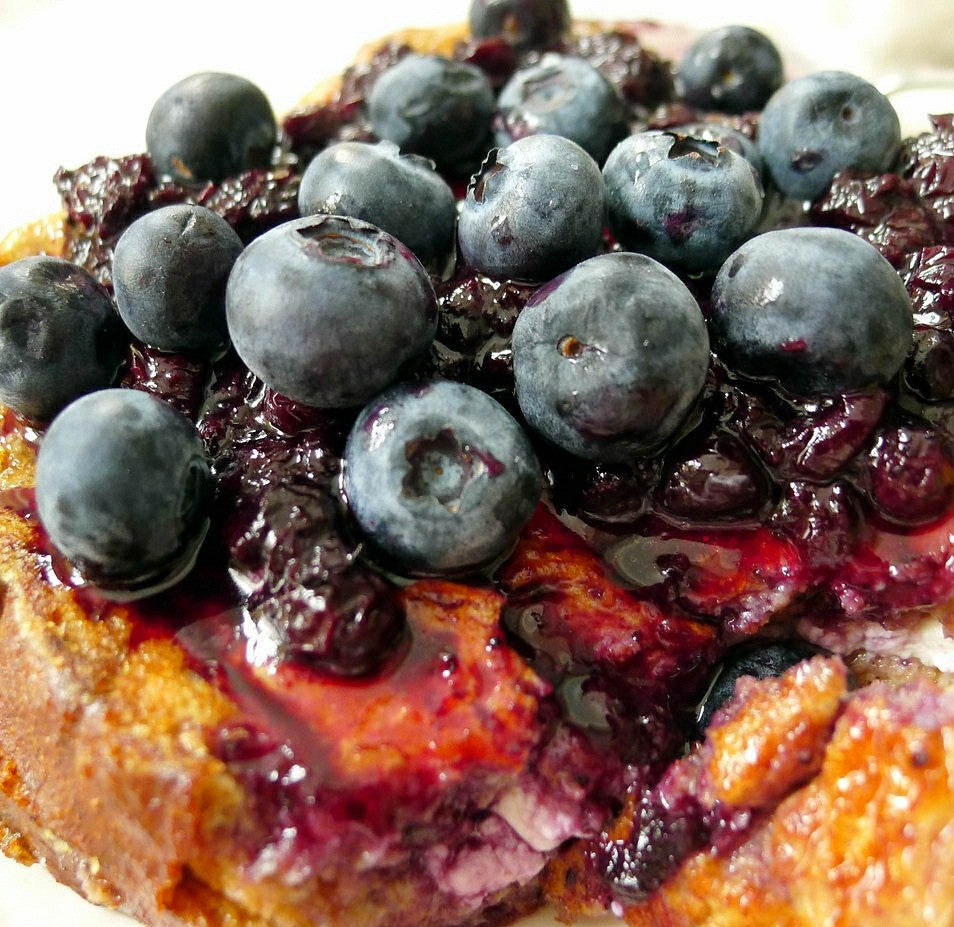 Blueberry Moonshine Custard