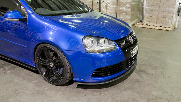 Flow Designs VW MK5 Golf R32 Front Splitter + Aero Spacers - V-Tech Australia | VW & Audi Performance Parts