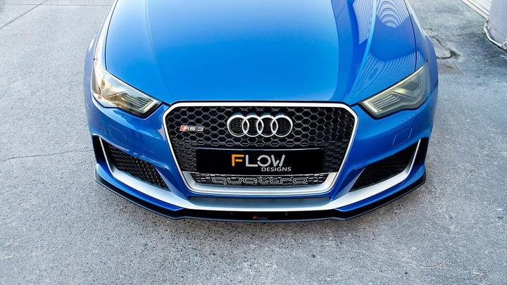 Flow Designs AUDI RS3 8V PFL SPORTBACK FULL SPLITTER SET - OPTION 2 - V-Tech Australia | VW & Audi Performance Parts