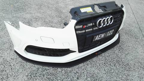 Flow Designs AUDI S3 8V PFL HATCH FRONT SPLITTER - V-Tech Australia | VW & Audi Performance Parts