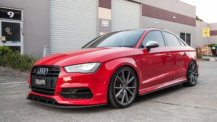 Flow Designs AUDI S3 8V PFL SEDAN SIDE SPLITTER - V-Tech Australia | VW & Audi Performance Parts