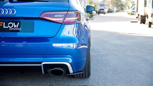 Flow Designs AUDI RS3 8V PFL HATCH REAR SPATS (PAIR) - V-Tech Australia | VW & Audi Performance Parts