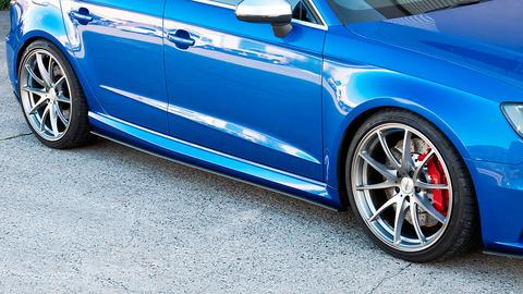 Flow Designs AUDI RS3 8V PFL HATCH SIDE SPLITTERS (PAIR) - V-Tech Australia | VW & Audi Performance Parts