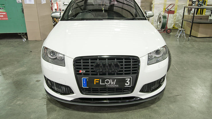 Flow Designs AUDI S3 8P PFL HATCH FRONT SPLITTER - V-Tech Australia | VW & Audi Performance Parts