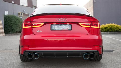 Flow Designs AUDI S3 8V PFL SEDAN REAR VALANCE KIT - V-Tech Australia | VW & Audi Performance Parts