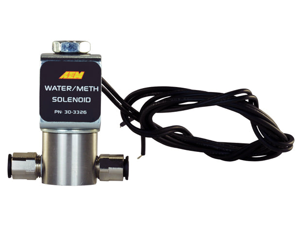 AEM High-Flow Low-Current Water/Methanol Solenoid (Shut off Valve)