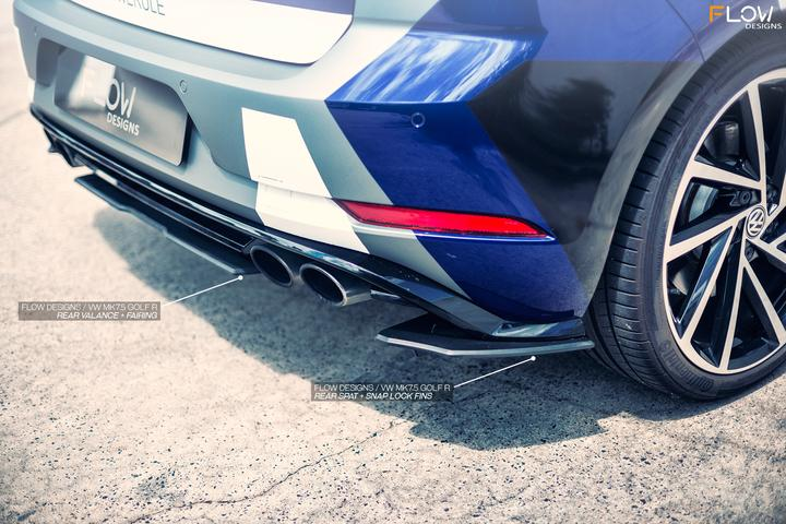 Flow Designs VW MK7.5 GOLF R REAR VALANCE - V-Tech Australia | VW & Audi Performance Parts