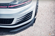 Flow Designs VW MK7 GOLF GTI FRONT SPLITTER WINGLETS (PAIR) - V-Tech Australia | VW & Audi Performance Parts