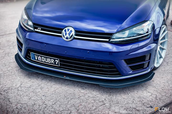 Flow Designs VW MK7 GOLF R FRONT SPLITTER EXTENSIONS (PAIR) - V-Tech Australia | VW & Audi Performance Parts