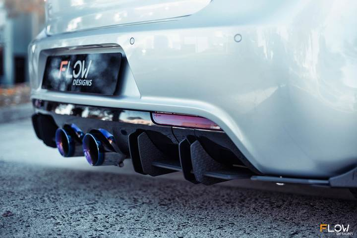 Flow Designs VW MK6 GOLF R REAR VALANCE & FLOW-LOCK DIFFUSER FINS - V-Tech Australia | VW & Audi Performance Parts