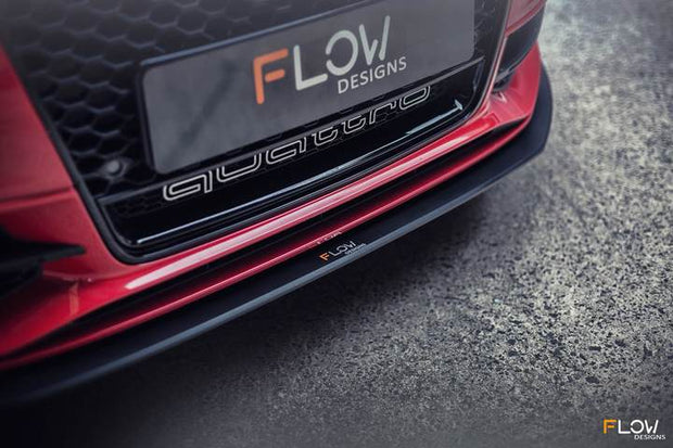 Flow Designs AUDI S3 8V PFL SPORTBACK FRONT SPLITTER - V-Tech Australia | VW & Audi Performance Parts