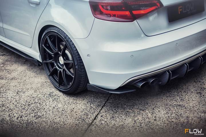 Flow Designs AUDI S3 8V PFL SPORTBACK REAR SPAT WINGLETS (PAIR) - V-Tech Australia | VW & Audi Performance Parts