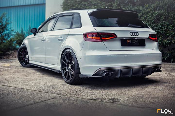 Flow Designs AUDI S3 8V PFL SPORTBACK FULL SPLITTER SET - V-Tech Australia | VW & Audi Performance Parts