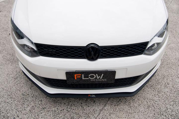 Flow Designs VW 6R POLO GTI FRONT SPLITTER - V-Tech Australia | VW & Audi Performance Parts
