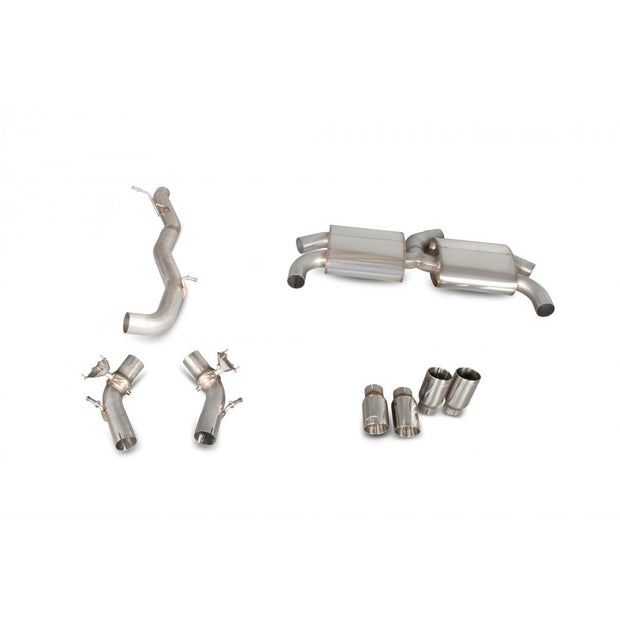 Scorpion Audi S3 8V SAUS051D Car Exhaust Cat-Back System (Non-Resonated) (Valved) Quad Daytona - V-Tech Australia | VW & Audi Performance Parts
