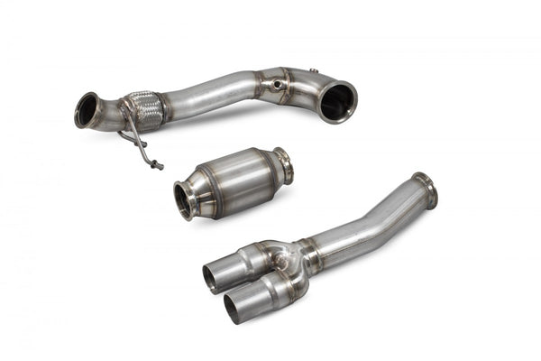 RS3 8V Saloon/Sedan 17-Current Downpipe with a high flow sports catalyst SAUX079