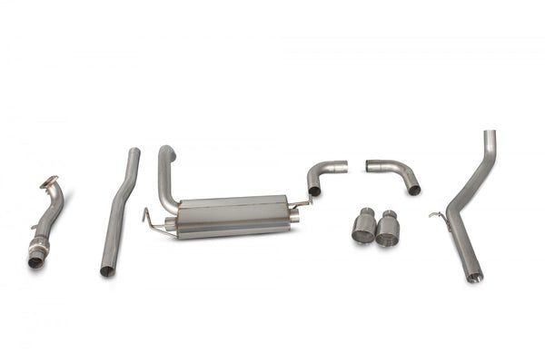 Scorpion Non Resonated Cat Back Exhaust Fiat 500/595/695 Abarth - SFT005