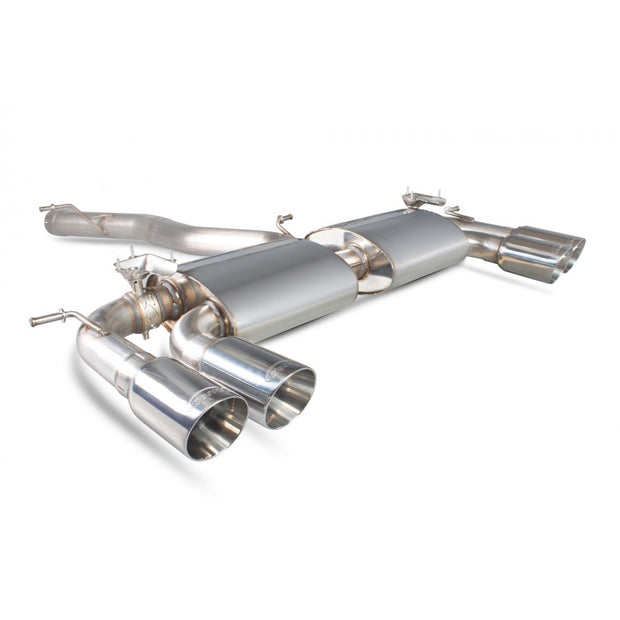 Scorpion SVWS046D - MK7 R -  Car Exhaust Cat-Back System (Non-Resonated) (Valved) Quad Daytona - V-Tech Australia | VW & Audi Performance Parts