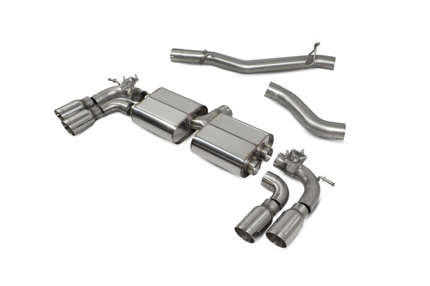 Scorpion SVWS054D- MK7.5 R -  Car Exhaust Cat-Back System (Non-Resonated) (Valved) Quad Daytona - V-Tech Australia | VW & Audi Performance Parts