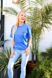 You Are You (Flo Blue Heather) - Short Sleeve / Crew