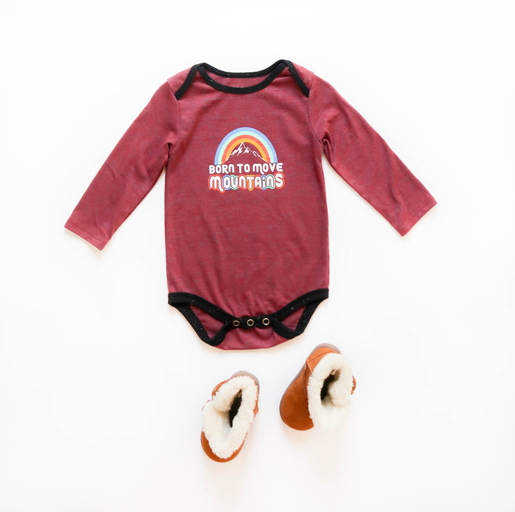 Born To Move Mountains (Wine Heather) - Onesie Pre Pack