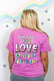 Find What You Love (Radiant Orchid Heather) - Short Sleeve / V-Neck