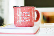 Fleck Mug (Mauve) -  More Of What You've Got - Packs of 5